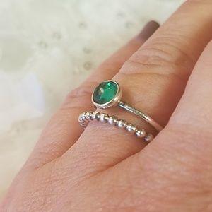 Two Sterling Pandora Rings